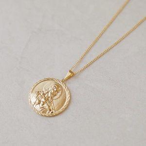Men's Jesus Necklace | 18k Gold Filled